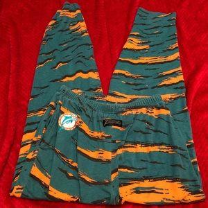 Miami dolphins zubaz vintage pants